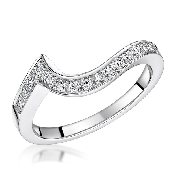 Anais Matching 2.3mm Wedding Band 0.20ct H/Si Diamonds in Platinum - image 1