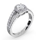 Carly GIA Diamond Engagement Side Stone Ring 18KW Gold 0.98CT G/SI2 - image 4