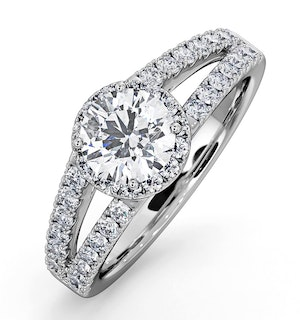 Carly GIA Diamond Engagement Side Stone Ring Platinum 1.48CT G/VS1