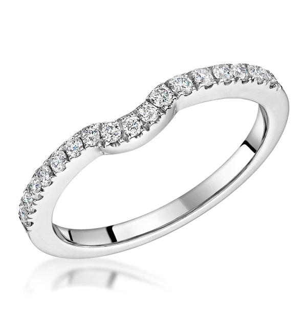 Carly Matching 2mm Wedding Band 0.28ct H/Si Diamonds in Platinum - image 1