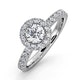 Alessandra GIA Diamond Engagement  Ring Platinum 1.10CT G/SI2 - image 1