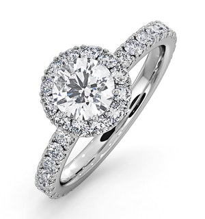 Alessandra GIA Diamond Engagement Ring Platinum 1.35CT G/SI1