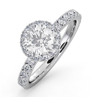 Alessandra GIA Diamond Engagement Ring 18KW Gold 1.60CT G/VS2
