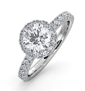 Alessandra GIA Diamond Engagement  Ring 18KW Gold 1.70CT G/SI1