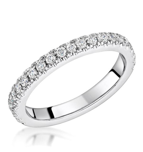 Alessandra Matching 2.6mm Wedding Band 0.52ct H/Si Diamonds Platinum - image 1
