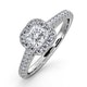 Roxy GIA Diamond Engagement Side Stone Ring in Platinum 0.98CT G/SI2 - image 1