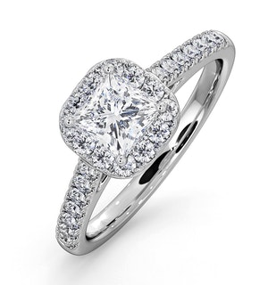 Roxy GIA Diamond Engagement Side Stone Ring in Platinum 1.22CT G/VS1