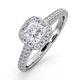 Roxy GIA 1.22CT G/SI1 Diamond Engagement Side Stone Ring in 18KW Gold - image 1