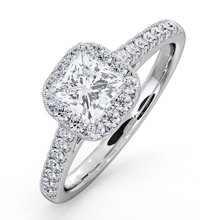 Roxy GIA Diamond Engagement Side Stone Ring in Platinum 1.48CT G/VS1