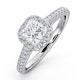 Roxy GIA Diamond Engagement Side Stone Ring in Platinum 1.48CT G/VS2 - image 1
