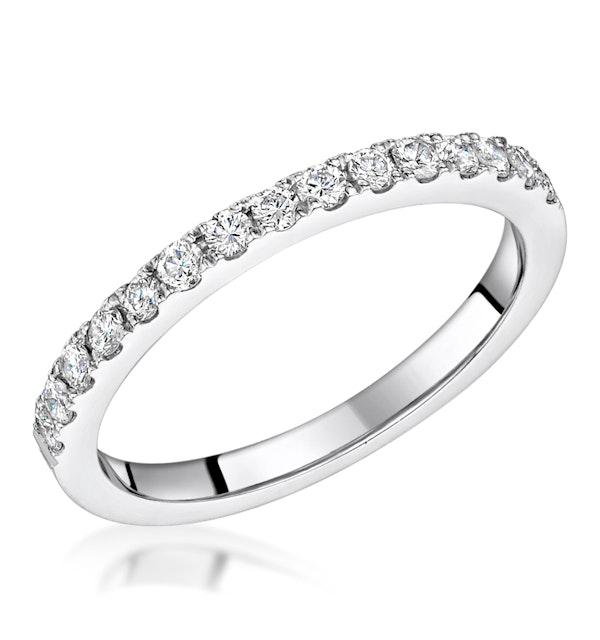 Roxy Matching 2MM Wedding Band 0.45ct H/Si Diamonds in 18K White Gold - image 1