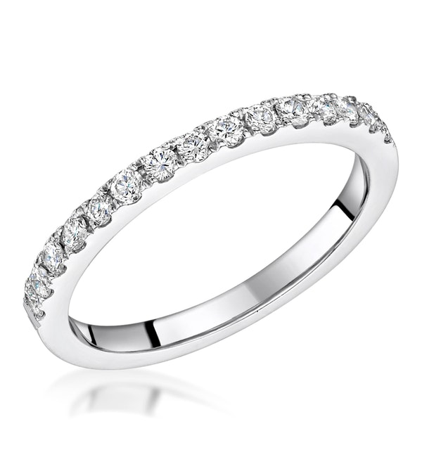Roxy Matching 2MM Wedding Band 0.36ct H/Si Diamonds in Platinum - image 1