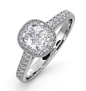 Danielle GIA Diamond Engagement Side Stone Ring Platinum 1.25CT G/VS2