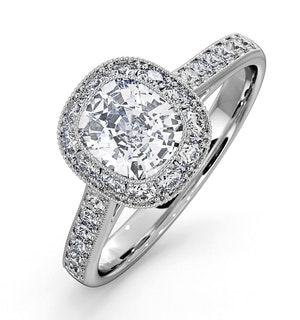 Danielle Lab Diamond Engagement Side Stone Ring Platinum 2.60CT SI1