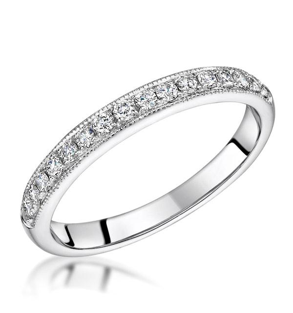 Roxy Matching 2MM Wedding Band 0.40ct H/Si Diamonds in Platinum - image 1