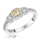 Isabella Yellow Diamond Halo Engagement Ring 0.53ct in 18K White Gold - image 1