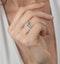 Leila Yellow Diamond Halo Milgrain Engagement Ring 1.46ct Platinum - image 2