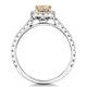 Katarin Yellow Diamond Halo Engagement Ring 1.32ct Platinum - image 3