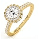 Valerie GIA Diamond Halo Engagement Ring in 18K Gold 1.10ct G/SI2 - image 1