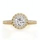 Valerie GIA Diamond Halo Engagement Ring in 18K Gold 1.10ct G/SI2 - image 2