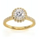 Valerie GIA Diamond Halo Engagement Ring in 18K Gold 1.10ct G/SI2 - image 3