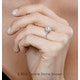Valerie GIA Diamond Halo Engagement Ring in Platinum 1.10ct G/SI1 - image 4