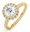 Valerie GIA Diamond Halo Engagement Ring in 18K Gold 1.60ct G/SI1 - image 1
