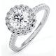 Valerie GIA Diamond Halo Engagement Ring in Platinum 1.80ct G/VS1 - image 1