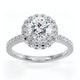 Valerie GIA Diamond Halo Engagement Ring in Platinum 1.80ct G/VS1 - image 3