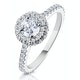 Valerie GIA Diamond Halo Engagement Ring 18K White Gold 1.10ct G/SI2 - image 1