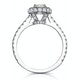 Valerie GIA Diamond Halo Engagement Ring 18K White Gold 1.10ct G/SI2 - image 3