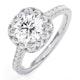 Elizabeth GIA Diamond Halo Engagement Ring in Platinum 1.70ct G/VS1 - image 1