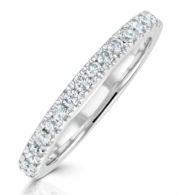 Elizabeth Matching Wedding Band 0.45ct G/Si Diamond in 18K White Gold - image 1