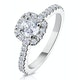 Elizabeth GIA Diamond Halo Engagement Ring 18K White Gold 1.00ct G/SI2 - image 1