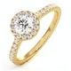 Reina GIA Diamond Halo Engagement Ring in 18K Gold 1.10ct G/SI2 - image 1