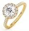Reina GIA Diamond Halo Engagement Ring in 18K Gold 1.80ct G/VS1 - image 1
