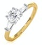 Isadora GIA Diamond Engagement Ring 18KY 0.65ct G/VS1 - image 1