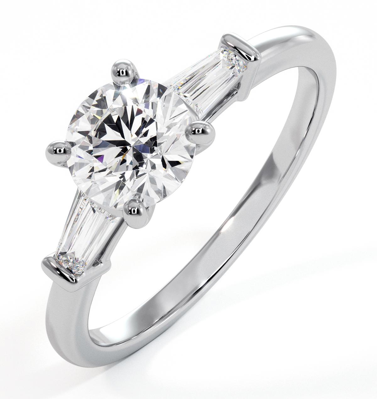 Isadora GIA Diamond Engagement Ring Platinum 0.90ct G/VS1 - image 1