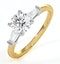 Isadora GIA Diamond Engagement Ring 18KY 0.90ct G/SI2 - image 1