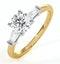 Isadora GIA Diamond Engagement Ring 18KY 0.90ct G/SI1 - image 1