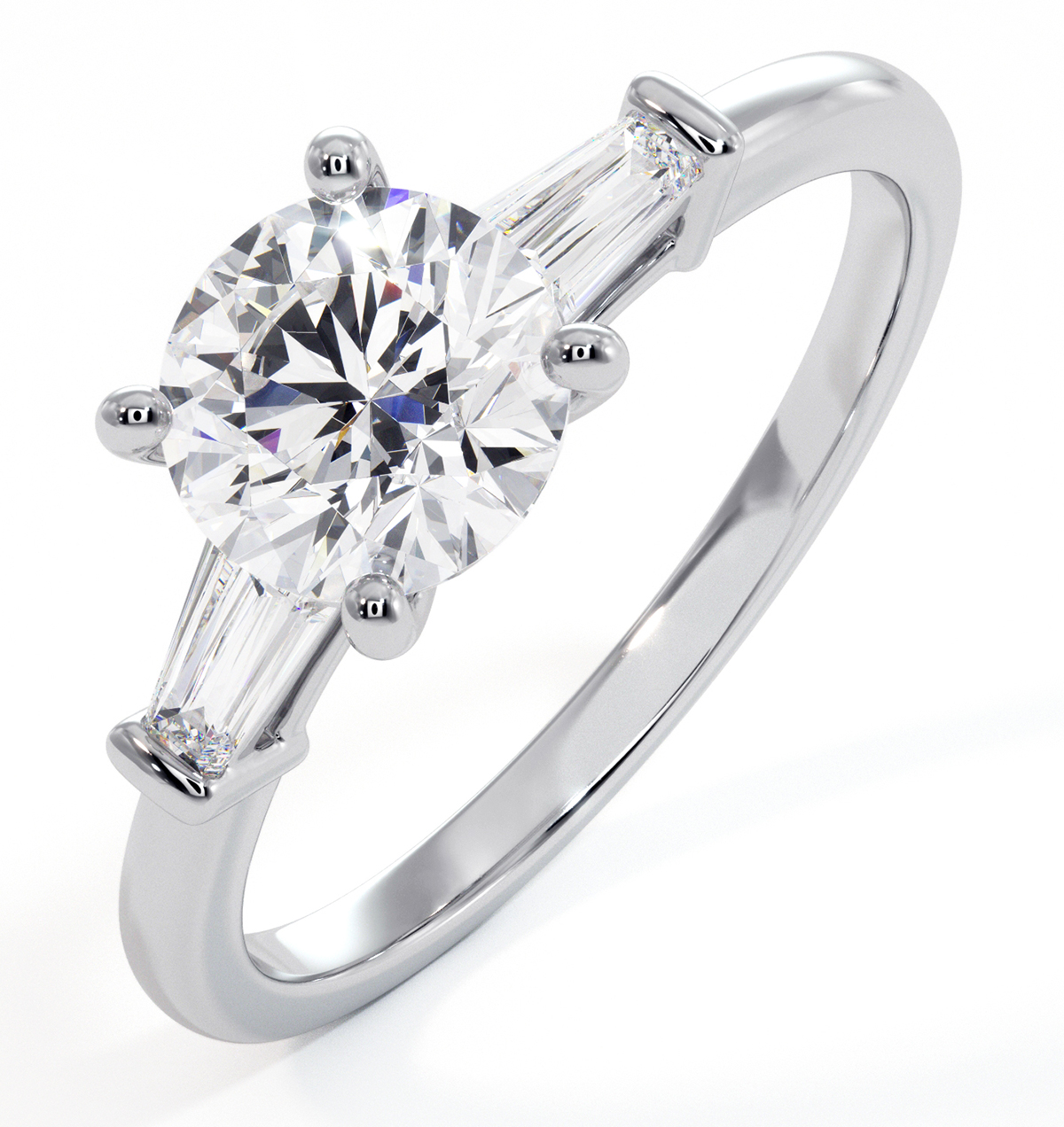 Isadora GIA Diamond Engagement Ring 18KW 1.10ct G/VS2 - image 1
