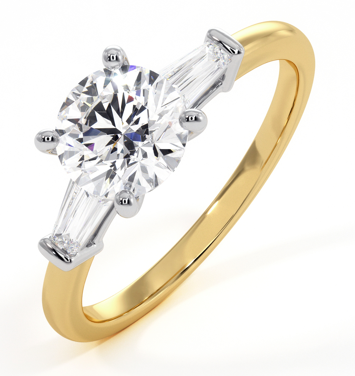 Isadora GIA Diamond Engagement Ring 18KY 1.10ct G/SI1 - image 1
