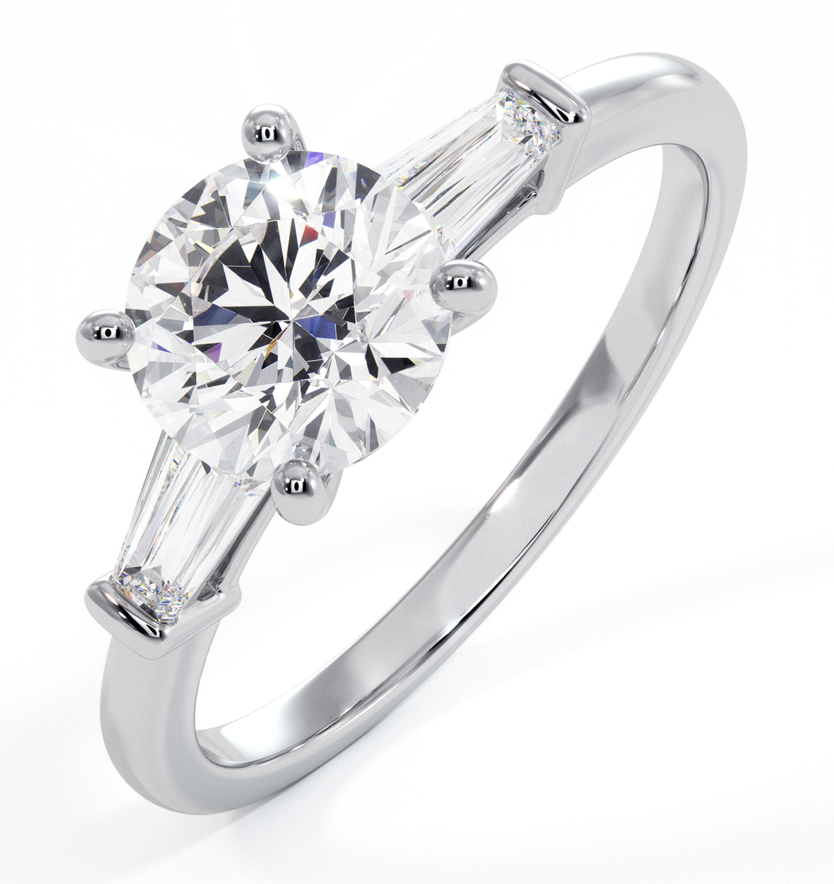 Isadora GIA Diamond Engagement Ring Platinum 1.25ct G/VS2 - image 1