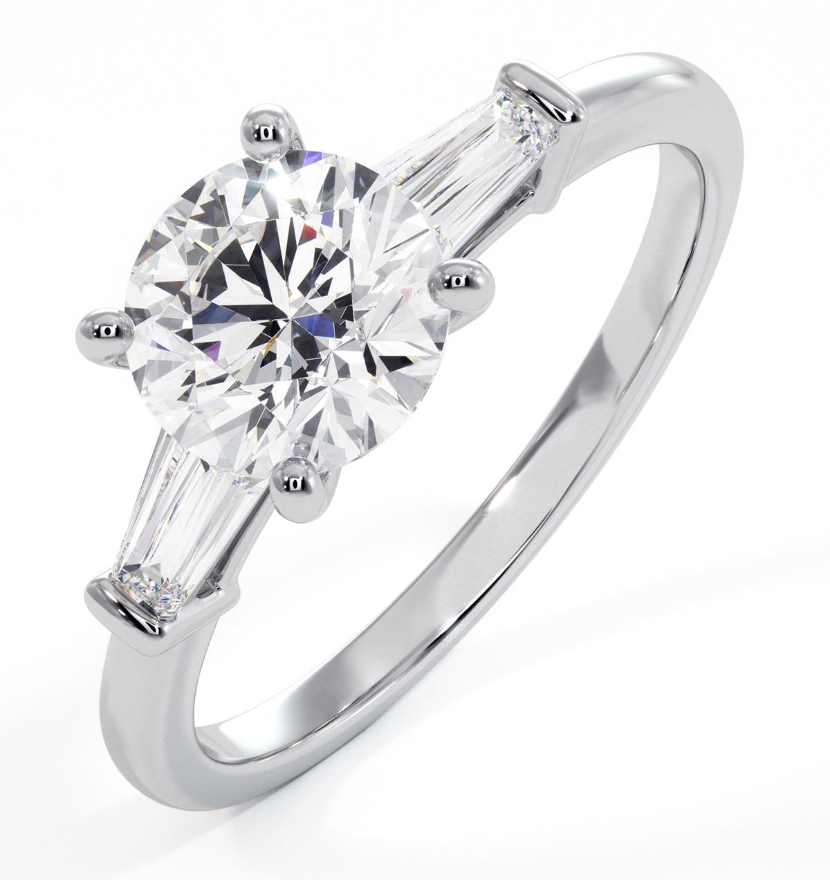 Isadora GIA Diamond Engagement Ring Platinum 1.25ct G/SI1 - image 1