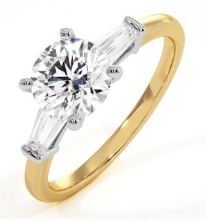 Isadora GIA Diamond Engagement Ring 18KY 1.25ct G/VS1