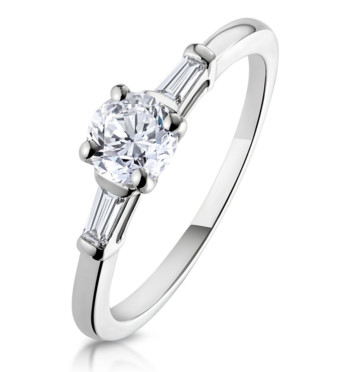 Isadora GIA Diamond Engagement Ring Platinum 0.65ct G/SI1 - image 1