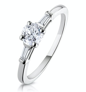 Isadora GIA Diamond Engagement Ring Platinum 0.65ct G/SI1
