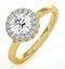 Eleanor GIA Diamond Halo Engagement Ring in 18K Gold 0.87ct G/SI1 - image 1