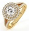 Camilla GIA Diamond Halo Engagement Ring in 18K Gold 1.15ct G/SI1 - image 1
