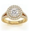 Camilla GIA Diamond Halo Engagement Ring in 18K Gold 1.15ct G/VS2 - image 3